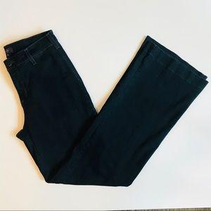 NYDJ Addison Wide Leg Trouser Style Jean Dark Wash